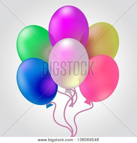 Celebrate With Balloons Indicates Joy Cheerful And Celebrates