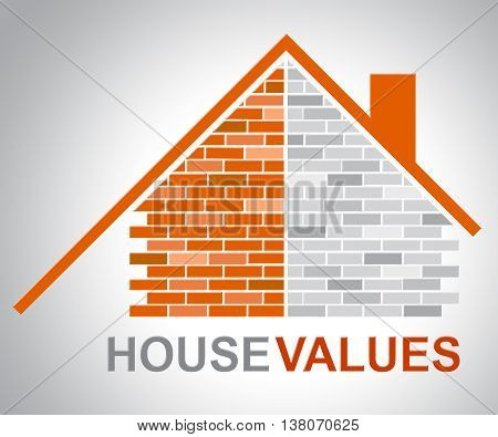 House Values Means Current Price And Building