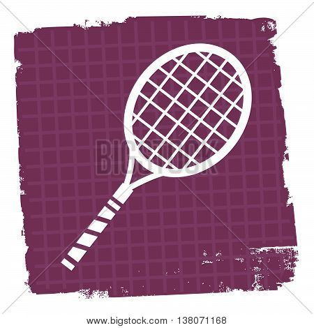 Tennis Icon Represents Play Sign And Court