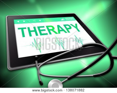 Therapy Tablet Means Remedy Physiotherapy And Internet