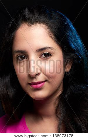 Headshot Of Young Latin Woman