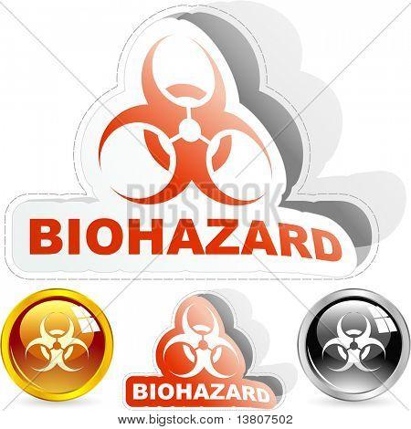 Biohazard signs. Vector illustration.
