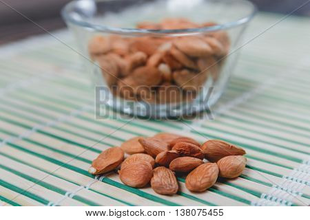 Dried Apricot Pits Kernel. Healthy Food Concept
