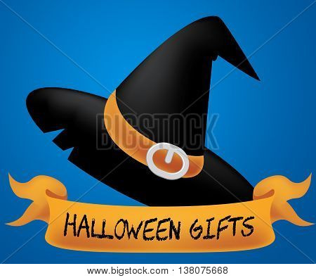 Halloween Gifts Means Trick Or Treat And Celebrate