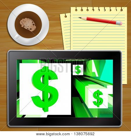Dollar Symbol On Cubes American Earnings Tablet