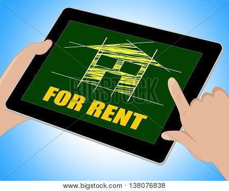 For Rent Represents Detail Architecture And Housing Tablet