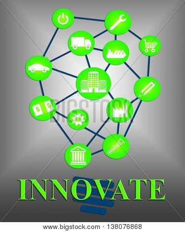 Innovate Icons Means Symbols Innovation And Reorganization