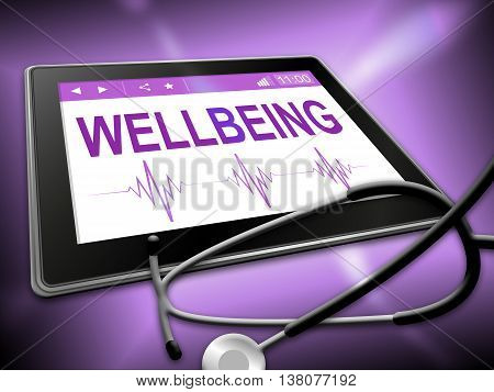 Wellbeing Tablet Represents Preventive Medicine And Computer