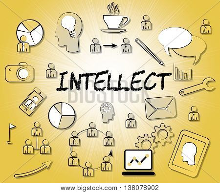 Intellect Icons Represents Intellectual Capacity And Ability