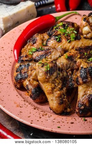 Grilled Chicken Wings With Chili