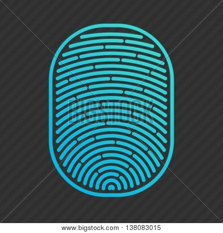 Vector isolated fingerprint on white background. Fingerprint icon.