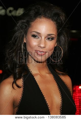 Alicia Keys at the Los Angeles premiere of 'Smokin' Aces' held at the Grauman's Chinese Theatre in Hollywood, USA on January 18, 2007.