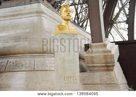 Gustave Eiffel Bust - Paris, France