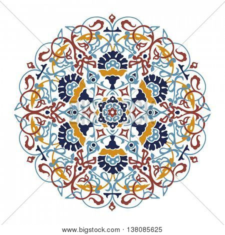 round design element with turkish ornament