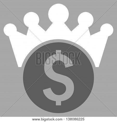 Financial Power vector icon. Style is bicolor flat symbol, dark gray and white colors, silver background.