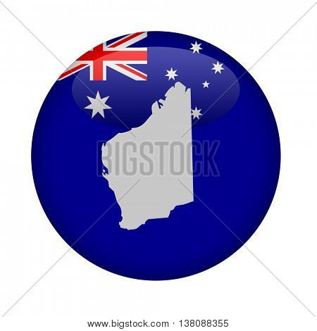 Western Australia map button on a white background.