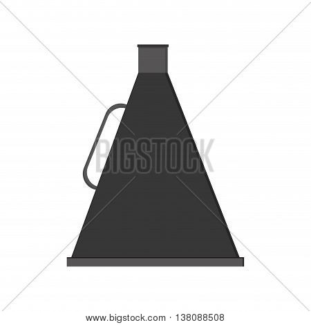 flat design movie megaphone icon vector illustration