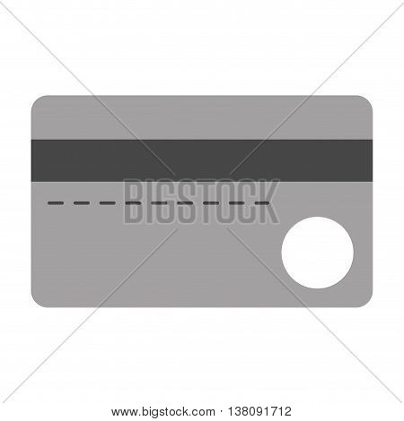 flat design credit or debit card icon vector illustration