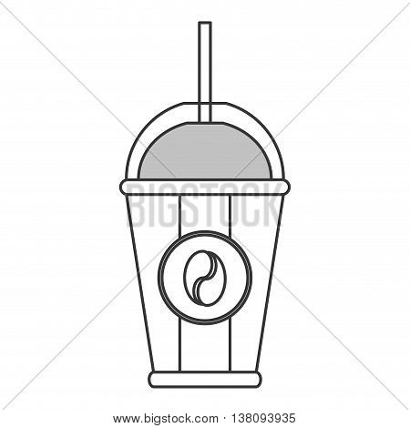 flat design disposable coffee cup icon vector illustration
