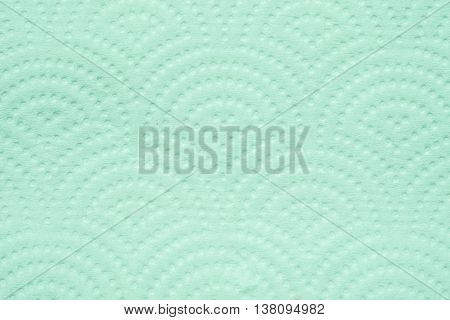 Closeup surface green toilet paper texture background