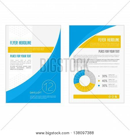 Vector Brochure Flyer design Layout template, size A4, Front page and back page, infographics. Easy to use and edit. Vector Brochure Flyer design Layout template in A4 size.