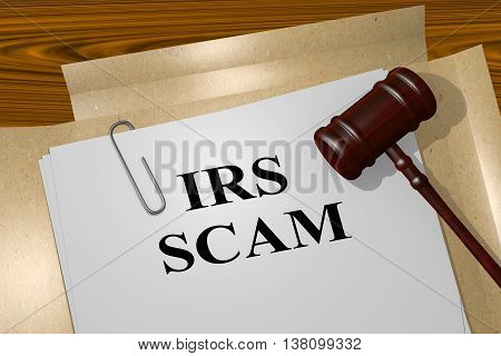 Irs Scam Legal Concept