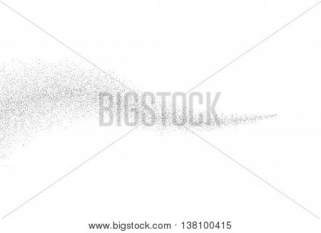 Vector silver glitter wave abstract background, silver sparkles on white background, silver glitter card design. vector illustration vip design template.
