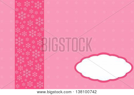 Creative greeting card design decorated in pink tones