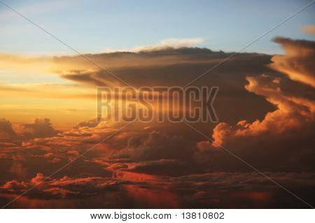 sunset cloud and sky