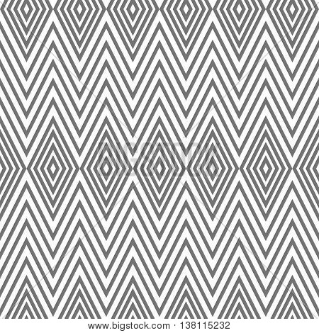seamless geometric pattern diamond zigzag. black and white background