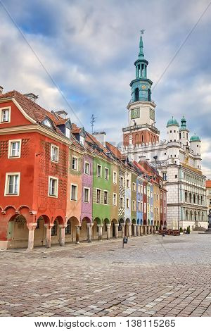 Old Market Square And Town Hall In Poznan, Poland.