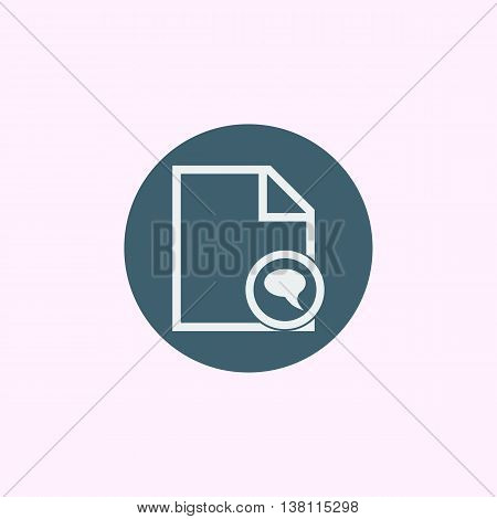 File Discussion Icon In Vector Format. Premium Quality File Discussion Symbol. Web Graphic File Disc