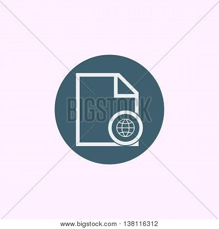 File Internet Icon In Vector Format. Premium Quality File Internet Symbol. Web Graphic File Internet