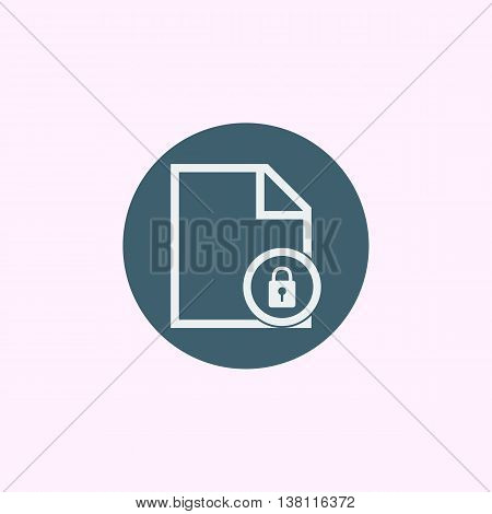 File Lock Icon In Vector Format. Premium Quality File Lock Symbol. Web Graphic File Lock Sign On Blu