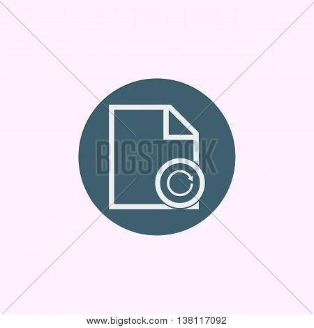 File Reload Icon In Vector Format. Premium Quality File Reload Symbol. Web Graphic File Reload Sign