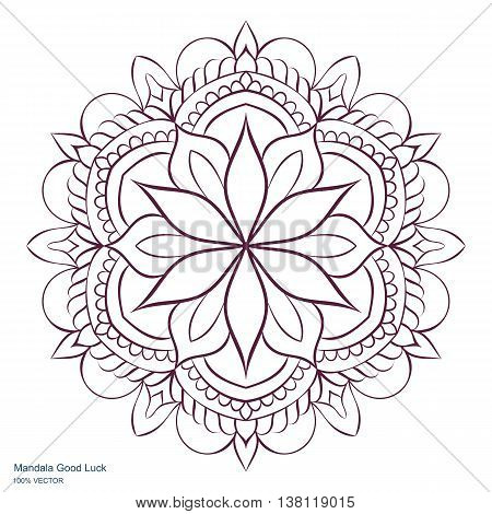 Mandala. Template Circular Ornament