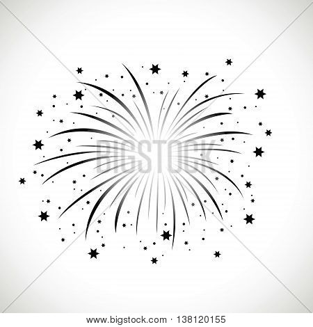 a black and white firework background image
