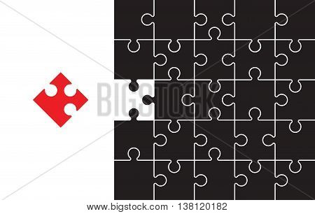 a red and black jigsaw background image