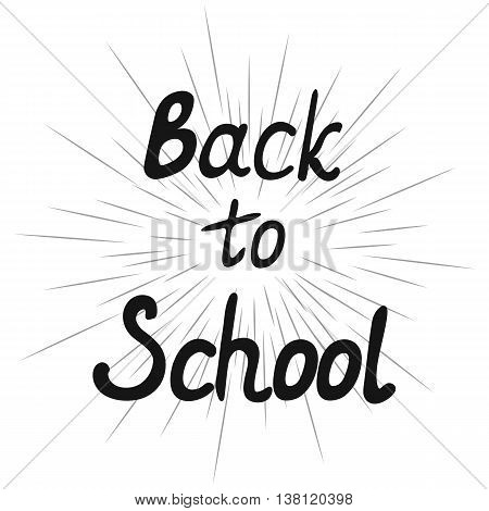 Back to school design. School flyer. Cover for notebook or diary of the student. Lettering. Vector illustration.