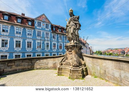 Statue of St. Kunigunde at the bridge to the