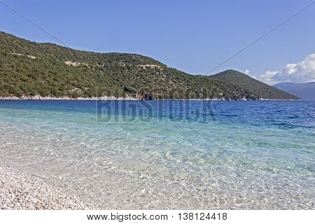 A view of the beautiful Antisamos beach (locations of the