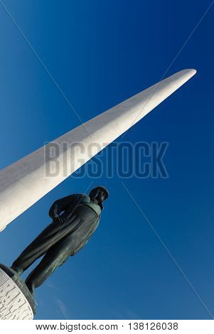 Francesco Baracca memory monument in Lugo, Italy