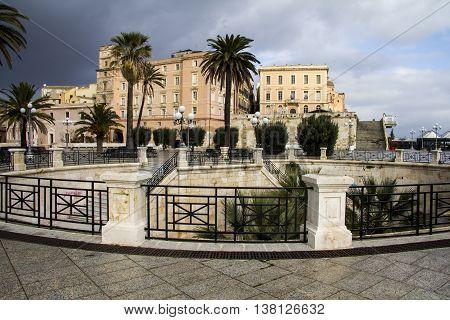 CAGLIARI:  Square Bastion of Saint Remy - Sardinia