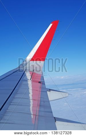 Image plane of the wing in daylight