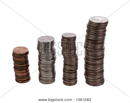 Stacks Of Us Coins Growth Graph