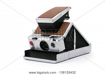 Instant Camera isolated on a white background