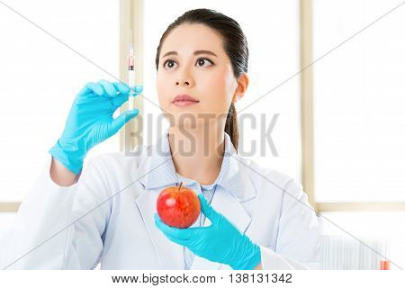Asian Female Scientist Try To Breakthrough Genetic Modification Food