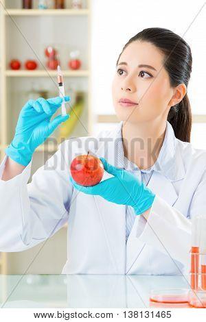 Laboratory Analysis Of Apple Gmo Food For Test