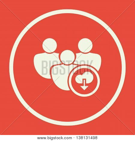 User Download Icon In Vector Format. Premium Quality User Download Symbol. Web Graphic User Download