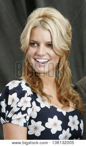 Jessica Simpson launches Blockbuster Total Access held at the Kodak Theatre in Hollywood, USA on November 2, 2006.